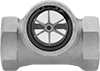 Flow Sights with Indicator for Water and Oil