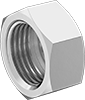 Nuts for High-Polish Gasket Fittings for Stainless Steel Tubing