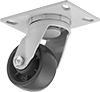 Economy Mauler Casters with Polypropylene Wheels