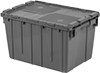 Tote Boxes with Interlocking Lids