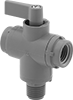 Compact Plastic Threaded Diverting Valves
