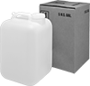 UN-Compliant Rigid Plastic Shipping Jugs with Packing Kit