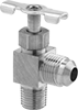 Precision Flow-Adjustment Valves with 45° Flared Compression Fittings