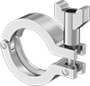 Clamps for Extra-Support High-Polish Metal Quick-Clamp Sanitary Tube Fittings