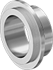 Extra-Support High-Polish Metal Quick-Clamp Sanitary Tube Fittings