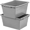 Nestable and Stackable Plastic Tote Boxes