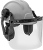 Hard Hats with Face Shield and Earmuffs