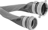 High-Pressure Easy-Store Discharge Water Hose with Threaded Fittings