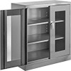 Bench-Height Shelf Cabinets with Clear-View Doors