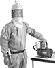 Supplied-Air Hood Respirators for Air Pumps