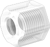 Nuts with Built-In Sleeve for High-Temperature Compression Tube Fittings for Food and Beverage