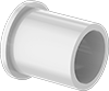 Food-Grade Dry-Running Flanged Sleeve Bearings