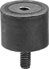 Corrosion-Resistant Vibration-Damping Sandwich Mounts with Stud and Insert