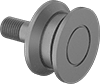 Threaded V-Groove Track Rollers