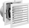 Corrosion-Resistant Direct-Drive Wall-Mount Exhaust Fans with Louvers