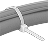No-Gap Curved-Head Cable Ties