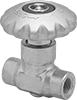 Compact Threaded Flow-Adjustment Valves for Cryogenic Liquid