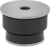 Chemical-Resistant Vibration-Damping Mounts with Unthreaded Hole