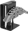 Low-Profile Channel-Guided Roller Chain Tensioners