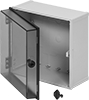 Tamper- and Corrosion-Resistant Washdown Enclosures with See-Through Cover
