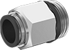 Universal-Thread Nickel-Plated Brass Push-to-Connect Tube Fittings for Air and Water