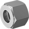 Nuts for Ultra-Corrosion-Resistant Yor-Lok Fittings for Nickel Alloy Tubing