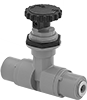 Precision Flow-Adjustment Valves with Push-to-Connect Fittings