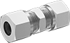 Nickel-Plated Brass Compression Fittings for Copper Tubing