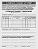 Lockout/Tagout Checklist Sheets
