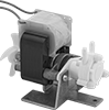 Compact Constant-Flow-Rate Pumps for Water and Oil