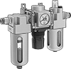 Compressed Air Filter/Regulator/Lubricators (FRLs) with Push-to-Connect Fittings