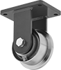 Extra-High-Capacity Flanged-Wheel Track Casters with Metal Wheels