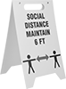 Fold-Flat Social Distancing Signs