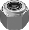 18-8 Stainless Steel Extra-Wide Nylon-Insert Locknuts