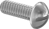 Steel Decorative Round Head Slotted Screws