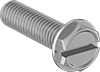 Stainless Steel Flanged Hex Head Screws with Slotted Drive