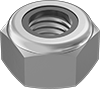 Metric Medium-Strength Steel Nylon-Insert Locknuts—Class 8