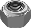 Metric Fine-Thread Medium-Strength Steel Nylon-Insert Locknuts—Class 8