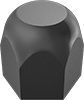 Steel Extra-Wide High-Hex Cap Nuts