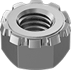 Metric Stainless Steel Locknuts with External-Tooth Lock Washer