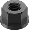 Metric Low-Strength Steel Flange Nuts