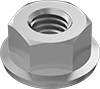 Metric Steel Nonmarring Locknuts with Spring-Lock Washer