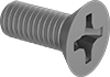 Mil. Spec. Stainless Steel Phillips Flat Head Screws