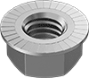 18-8 Stainless Steel Serrated Flange Locknuts