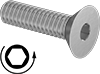 Left-Hand Threaded Flat Head Screws