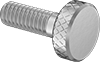 Stainless Steel Low-Profile Knurled-Head Thumb Screws