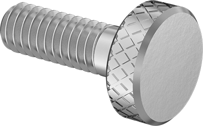 Thread Size #4-48 Narrow Knurled-Head Thumb Screw 18-8 Stainless Steel