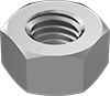 Metric Aluminum Hex Nuts