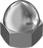 Metric Low-Strength Steel Cap Nuts