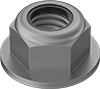 High-Strength Steel Nylon-Insert Flange Locknuts—Grade G